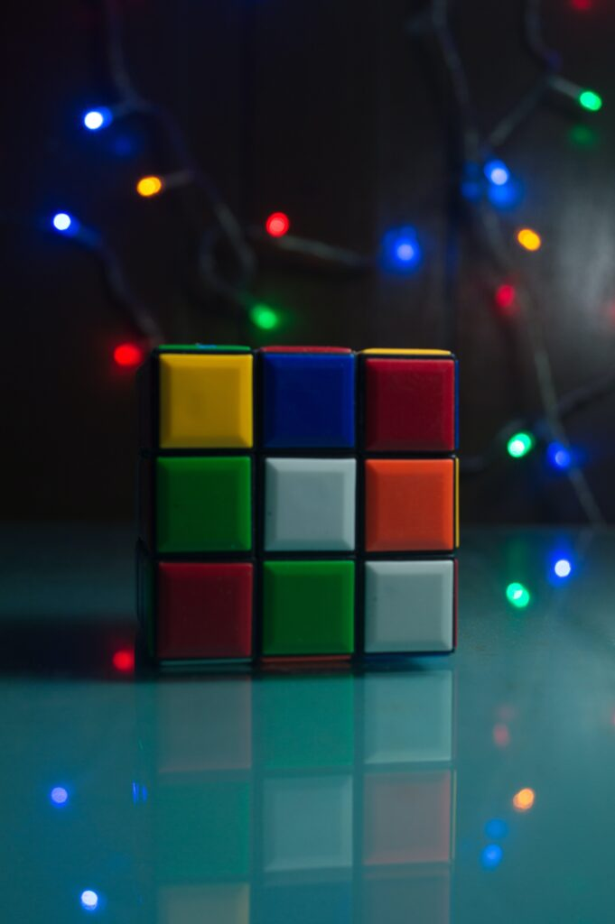 Rubik's Cube with lights