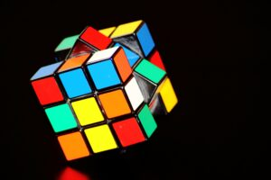 rubiks cube with lights