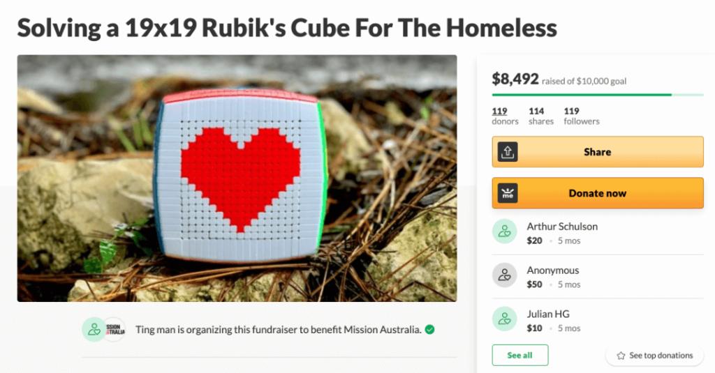 Rubik's Cube News - Fundraiser