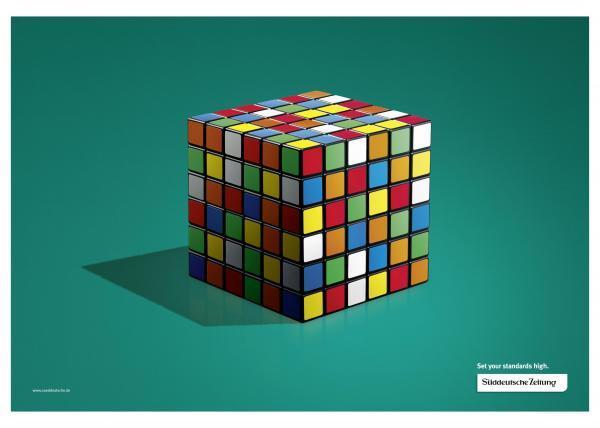 Sueddeutsche Zeitung Rubik's ad