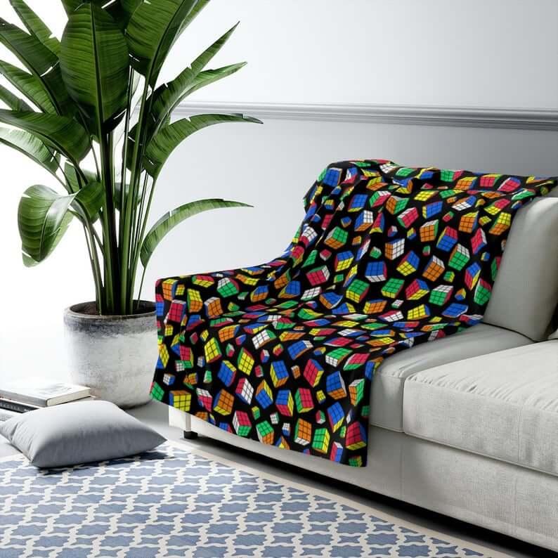 Gifts for Rubik's Cube Lover - Cube Blanket