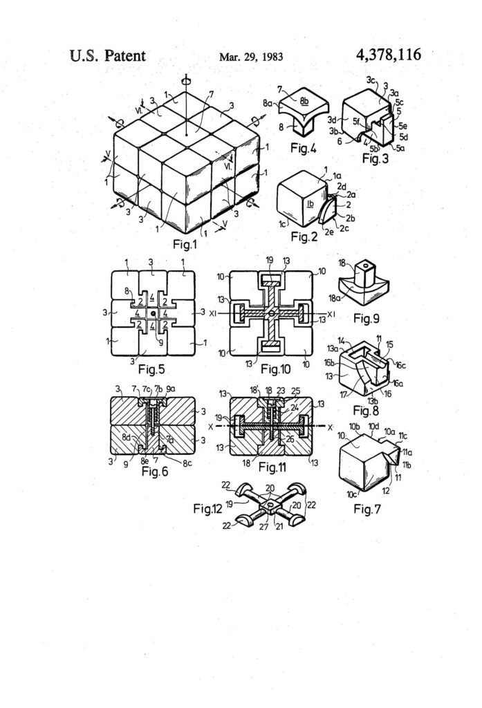 Rubiks Cube US Patent